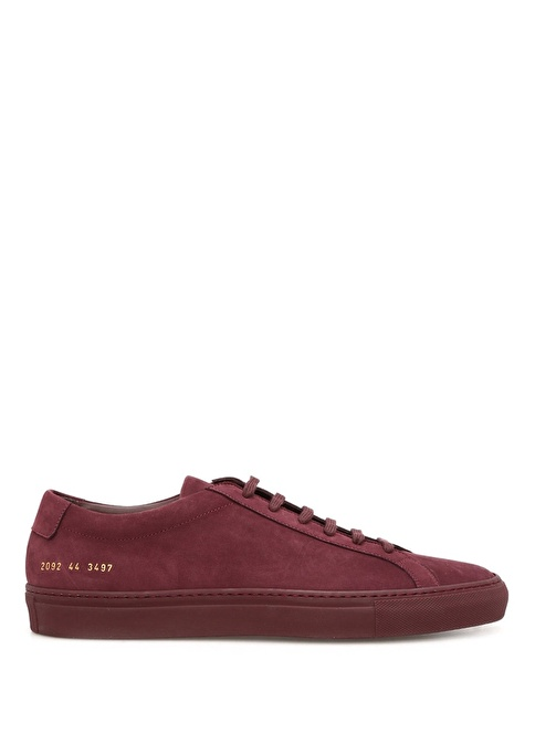 Common Projects Spor Ayakkabı Bordo